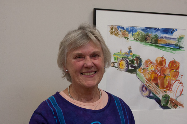 Susan Hennelly with painting