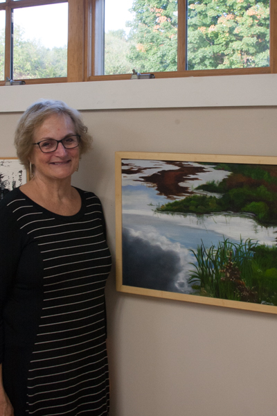 Ann Godesky with painting